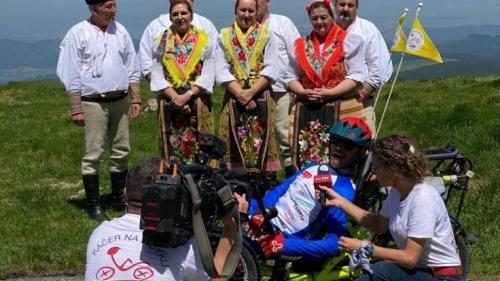 Peter Káčer na bicykli - Smer Šumiac - Kráľova Hoľa